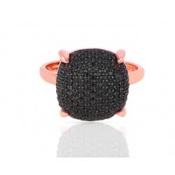 Золотое кольцо с черной шпинелью 0.88ct Tiffany&Co