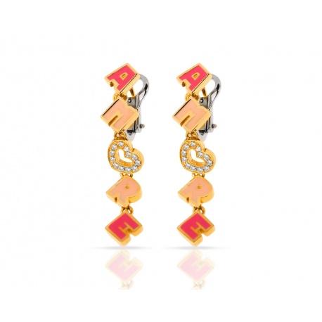 Серьги из золота с бриллиантами Pasquale Bruni Amore