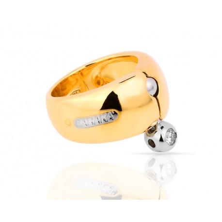 Солидное золотое кольцо с бриллиантом Baraka