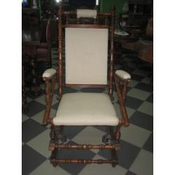 Старинная кресло качалка