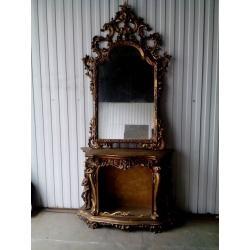 Консоль полузакрытая с зеркалом