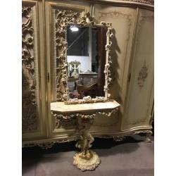 Консоль кракелюр с зеркалом