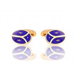 Золотые запонки с синими эмалями Faberge