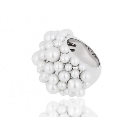 Нежное золотое кольцо с жемчугом MiMi