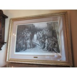 Гравюра антикварная ГЮСТАВА ДОРЕ 1877 г.