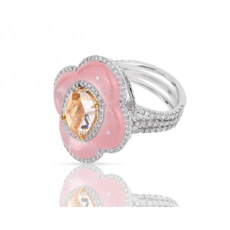 Волшебное золотое кольцо с бриллиантами Avakian