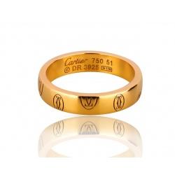 Прелестное золотое кольцо Logo De Cartier