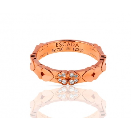 Романтичное золотое кольцо с бриллиантами Escada