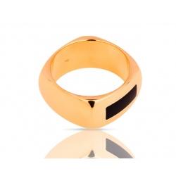 Достойное золотое кольцо с эмалью Dinh Van