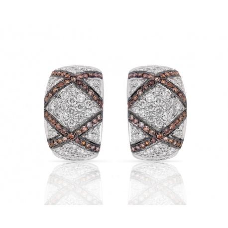 Шикарные золотые серьги с бриллиантами