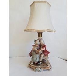 Старинная фарфоровая лампа Графенталь