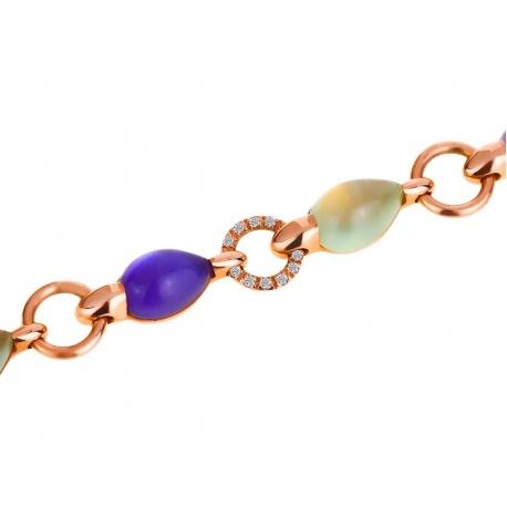 Яркий золотой браслет с бриллиантами Mattioli