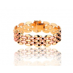 Прекрасный итальянский золотой браслет Unoaerre