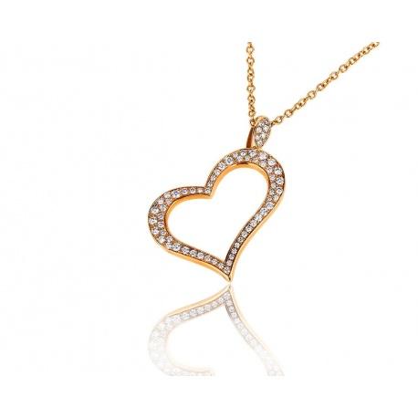 Золотой кулон c бриллиантами Piaget Heart