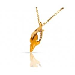 Модная золотая подвеска с бриллиантами 0.04ct Magerit