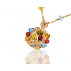 Прелестное золотое колье с бриллиантами Bvlgari Astrale