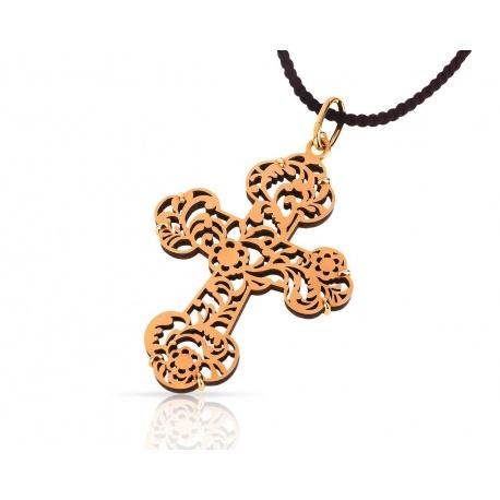 Потрясающий крест на шнурке Pomellato Victoria
