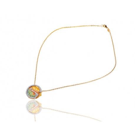 Красивая золотая подвеска с бриллиантам Masriera