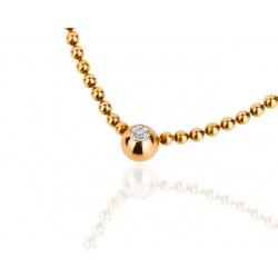 Изящное золотое колье с бриллиантом Cartier