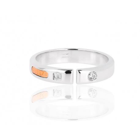 Солидное золотое кольцо с бриллиантами Baraka