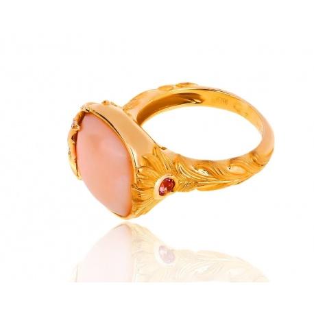 Кольцо с розовыми сапфирами и опалом Carrera y Carrera