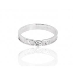 Обручальное золотое кольцо с бриллиантом Tiffany&Co Atlas
