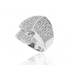 Итальянское золотое кольцо с бриллиантами
