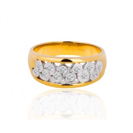 Золотое кольцо с бриллиантами Salvini