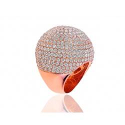 Шикарное золотое кольцо с бриллиантами 15.10ct