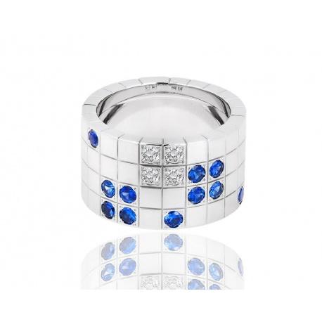 Кольцо с бриллиантами и сапфирами Cartier Lanieres