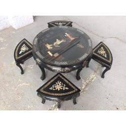 Столик с табуретками Шинуазри