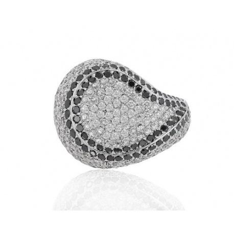 Роскошное кольцо с бриллиантами 6.33ct.