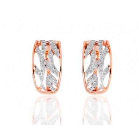 Чудесные серьги с бриллиантами 0.24ct