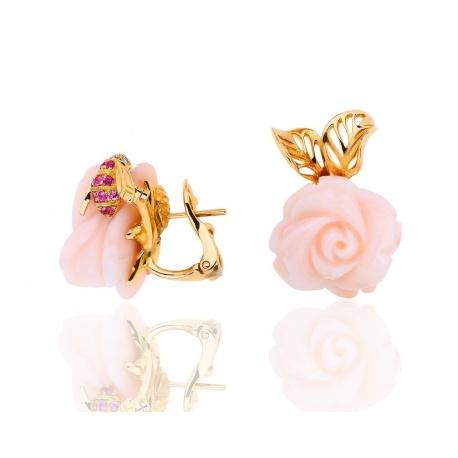 Нежные серьги с кораллами Dior Pre Catelan