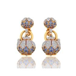 Серьги с бриллиантами и сапфирами Avakian