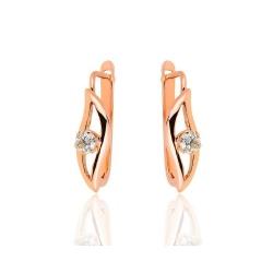 Золотые серьги с бриллиантами 0.51ct