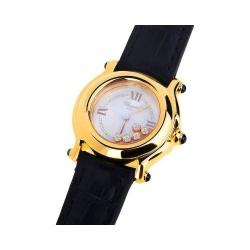Прекрасные золотые часы с бриллиантами Chopard Happy Diamonds Артикул: 030318/9