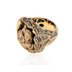 Кольцо с сапфирами и бриллиантами 1.73ct