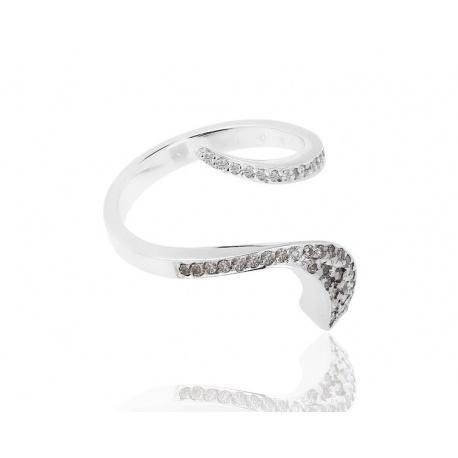Интересное кольцо с бриллиантами 0.28ct