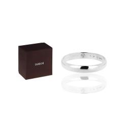Платиновое кольцо с бриллиантом Damiani