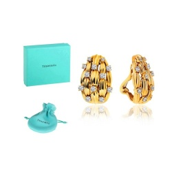 Серьги с бриллиантами 2.00ct Tiffany&Co Signature