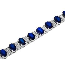 Итальянский браслет с сапфирами и бриллиантами