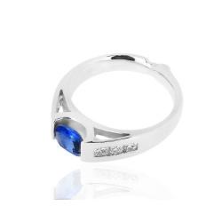 Итальянское кольцо с танзанитом и бриллиантами