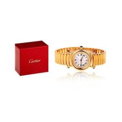 Золотые часы с сапфирами Cartier Colisee