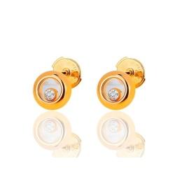 Золотые запонки с бриллиантами 0.11ct Chopard