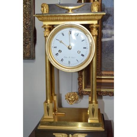 Часы каминные с масками ( Лот MH 0972 )
