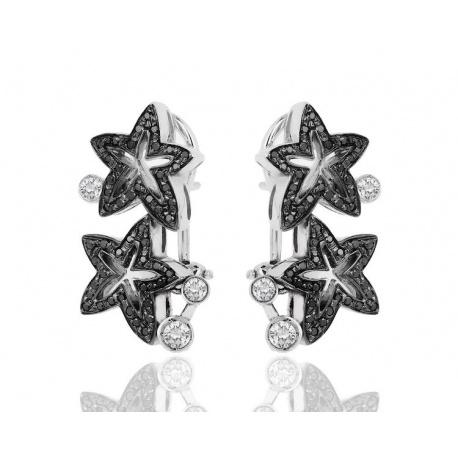 Серьги с бриллиантами Stefan Hafner Flower