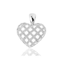 Романтичный золотой кулон с бриллиантами
