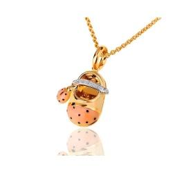 Aaron basha ladybug saddle золотой кулон-шарм