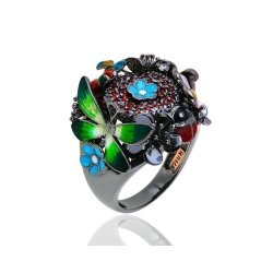 Нарядное золотое кольцо Roberto Bravo